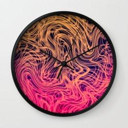 Warped Linear2 Warm Wall Clock