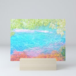 Abstract Texture Sardegna Italy water view Pastel Mini Art Print