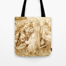 "Dante Gabriel Rossetti ""King Arthur and the Weeping Queens"" Tote Bag"