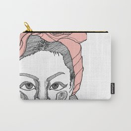 Girl with a bow in her hair Carry-All Pouch