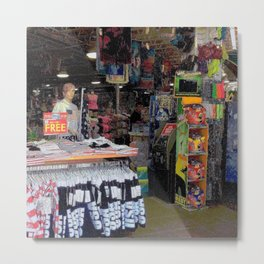 Store by the Sea Metal Print