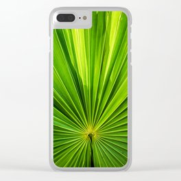 green pattern Clear iPhone Case
