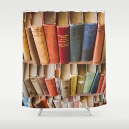 The Colorful Library Shower Curtain
