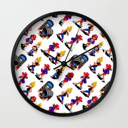 Monsters hunters | zamn02 | vintage retro gaming Wall Clock