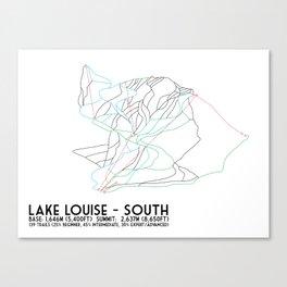 Lake Louise, Alberta, Canada - South Face - Minimalist Trail Map Canvas Print