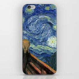The Scream Starry Night Edvard Munch Vincent Van Gogh iPhone Skin