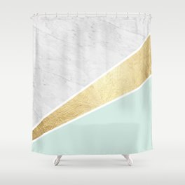 Colorful texture VI Shower Curtain
