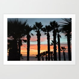 Shapes of a sunset. Art Print