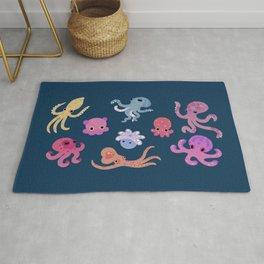 Octopus - dark Rug