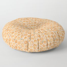 Honey Bee Hexagons Floor Pillow