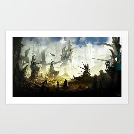 Frontier Line Art Print