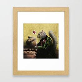 Mr. Squirrel Loves His Acorn! Framed Art Print