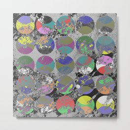Pastel Passion - Geometric, textured artwork Metal Print