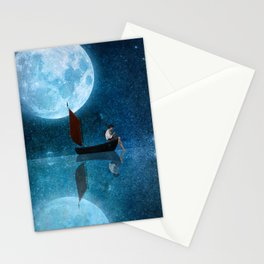 The Moon and Me Stationery Cards
