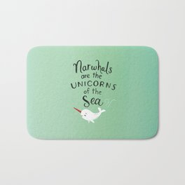 Wendell the Narwhal Bath Mat