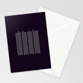 nulla dies sine linea / not a day without a line Stationery Cards