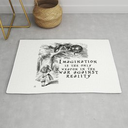 Imagination is the only weapon in the war against reality Rug