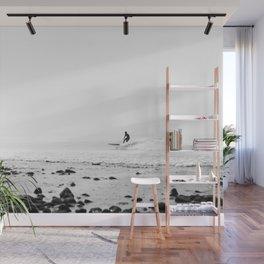 Surfing Malibu Wall Mural