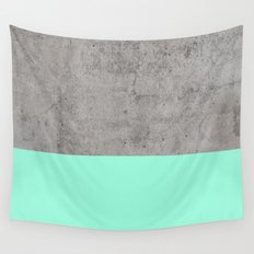 Sea on Concrete Wall Tapestry