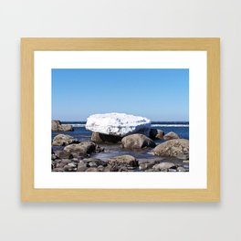 Perched on the Boulders Framed Art Print
