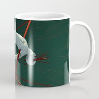 cyberpunk Mugs featuring Dividendo Digital by Obvious Warrior