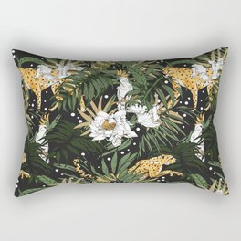 Animals in the glamorous nocturnal jungle Rectangular Pillow