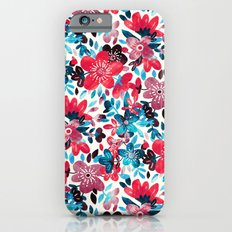 Happy Red Flower Collage iPhone 6s Slim Case