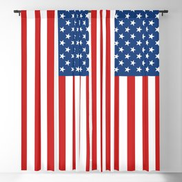 American flag Blackout Curtain