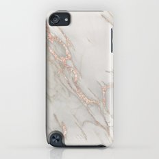 Marble Rose Gold Blush Pink Metallic by Nature Magick Slim Case iPod touch