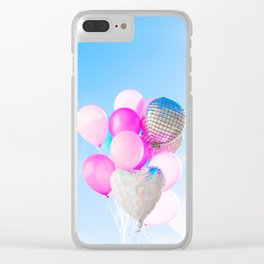 Up, up and away Clear iPhone Case