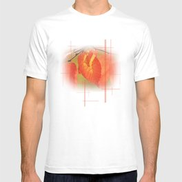 Shadowed Orange/Red Leaf T-shirt