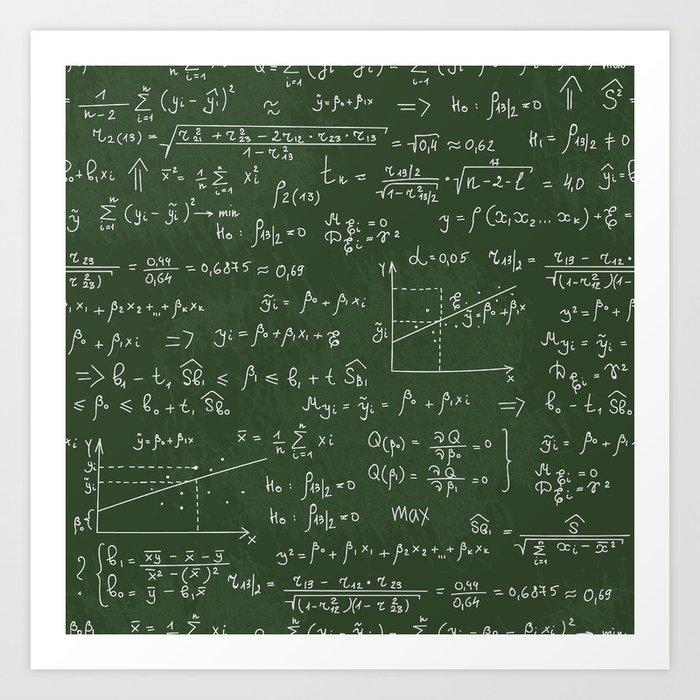 Geek math or economic pattern Art Print