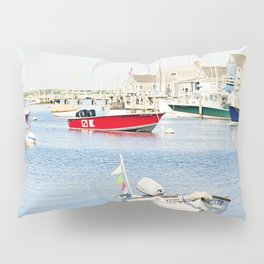 Boats Reflecting in Harbor in Nantucket Pillow Sham