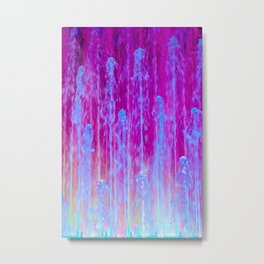 Neon Abstract Fountain Fine Art Photography Metal Print