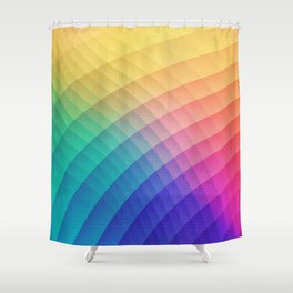 Spectrum Bomb! Fruity Fresh (HDR Rainbow Colorful Experimental Pattern) Shower Curtain