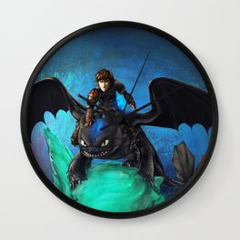 The Alpha Protects Them All Wall Clock