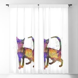 Abyssinian in watercolor Blackout Curtain
