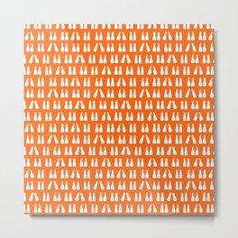 Scuba Diving White Fins on Orange Metal Print