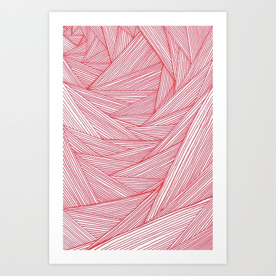 Red Feels Art Print