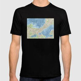 City Map Madison Wisconsin watercolor  T-shirt