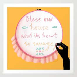 Bless our House Art Print