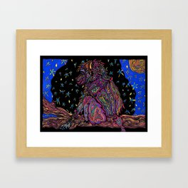 Starry Monkey Framed Art Print