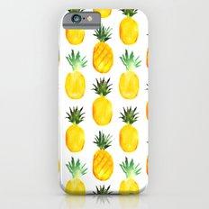 Pineapple love || watercolor iPhone 6s Slim Case