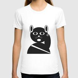 Maneki neko black version. T-shirt