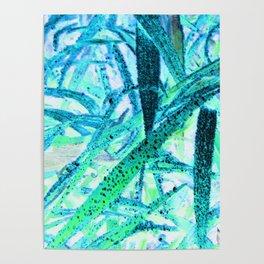 Invert Grass Design Poster