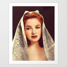 Martha Vickers, Vintage Actress Art Print