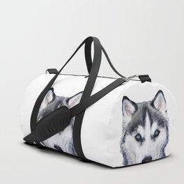 siberian husky2 Duffle Bag