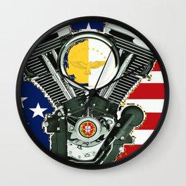 Portuguese Immigrant motorcycle Culture. Wall Clock