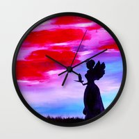 astrology Wall Clocks featuring The Astrology  sign VIRGO by Krista May
