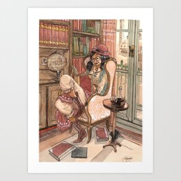 Le Salon Rouge Art Print